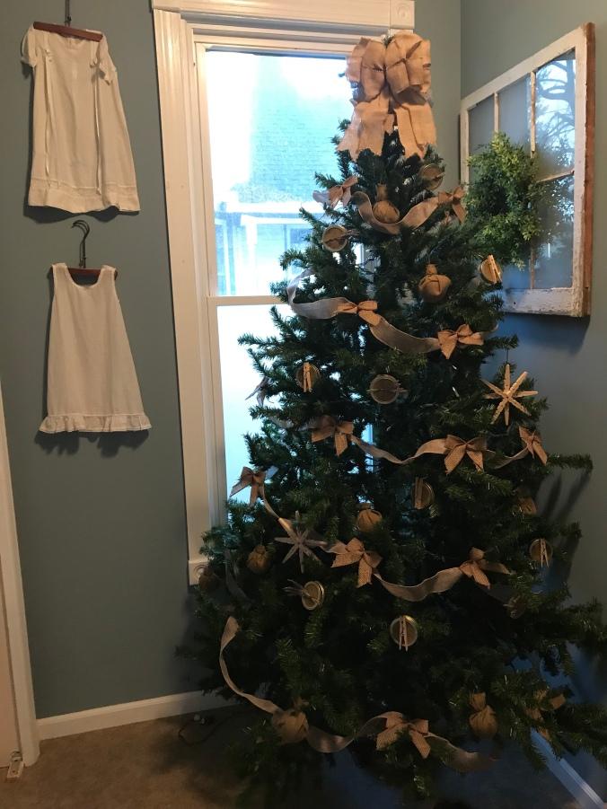 Bathroom Burlap Rustic Christmas Tree Designer Deputy